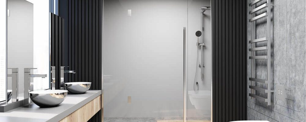 A beautifully designed wet room.